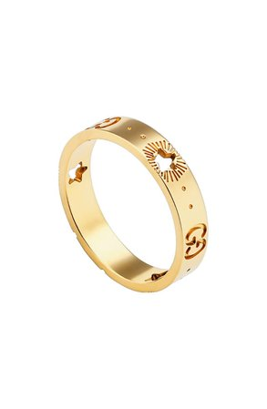 Gucci Icon 18K Gold Star Detail Ring   Nordstrom