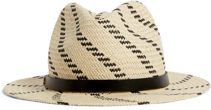 Basketweave Straw Fedora