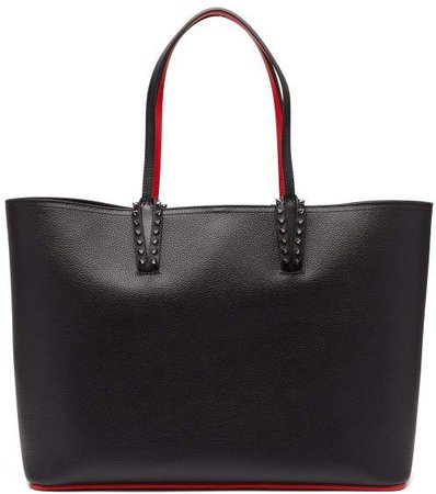 Cabata Spike Embellished Leather Tote - Womens - Black
