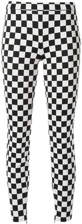 check print skinny trousers