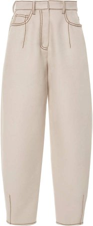 Agnona High-Rise Straight-Leg Jeans