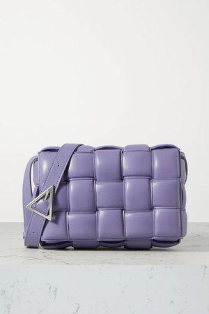 Lilac Cassette padded intrecciato leather shoulder bag   Bottega Veneta   NET-A-PORTER