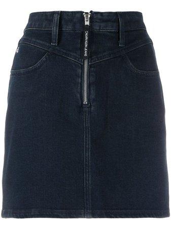 Calvin Klein Jeans Denim Mini Skirt - Farfetch