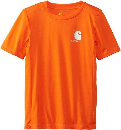 Amazon.com: Carhartt Little Boys' CB Performance Logo Tee, Bright Orange, 7: Clothing