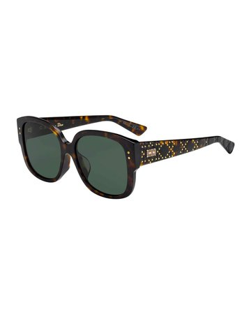 Dior LadyDiorStuds Square Studded Sunglasses | Neiman Marcus