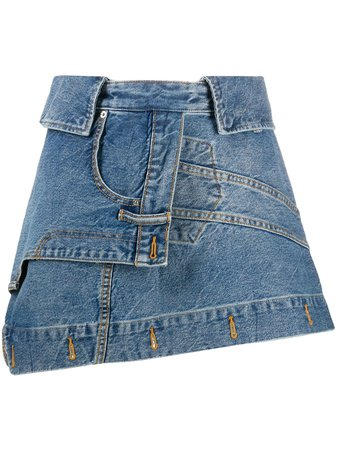 Alexander Wang Deconstructed Denim Skirt
