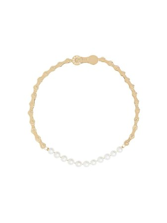 Burberry Pearl Detail Bicycle Chain Gold-Plated Necklace | Farfetch.com