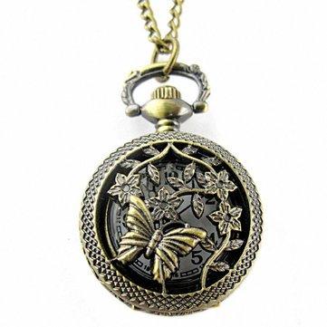 DEFFRUN Vintage Bronze Classic Dragon Pattern Chain Quartz Steampunk Pocket Watch is Worth Buying - NewChic