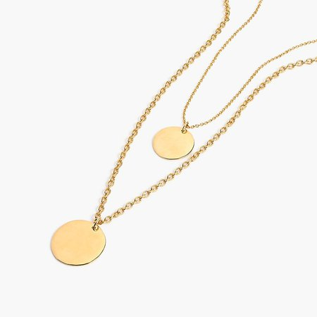 J.Crew: Layered Coin Necklace