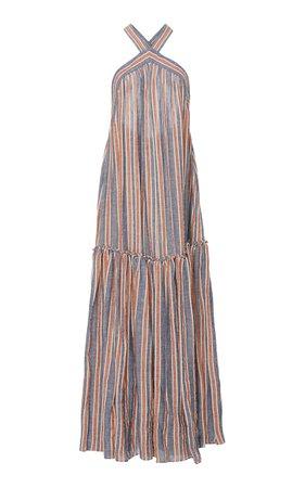 Three Graces London Dollie Striped Maxi Dress