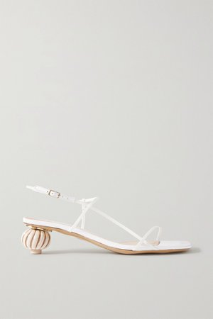 White Manosque leather sandals | Jacquemus | NET-A-PORTER