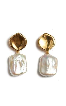 Pearly White Freshwater Pearl Earrings by Lizzie Fortunato | Moda Operandi