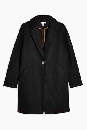 Black Classic Coat | Topshop