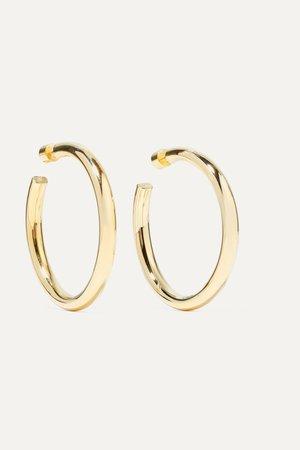 "Gold 2"" Samira gold-plated hoop earrings | Jennifer Fisher | NET-A-PORTER"