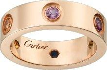CRB4087800 - LOVE ring - Pink gold, sapphires, garnets, amethyst - Cartier