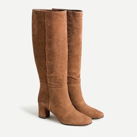 J.Crew: Tall Slouch Boots In Suede For Women brown