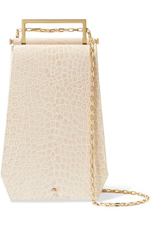 Maison Etnad | Eloine croc-effect leather shoulder bag | NET-A-PORTER.COM