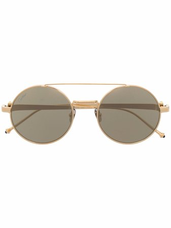Cartier Eyewear Pasha round-frame Sunglasses - Farfetch