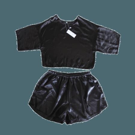 Satin Crop & Shorts Twin Set – MY MUM MADE IT pty ltd