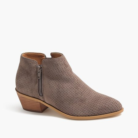 J.Crew Factory: Perforated Microsuede Boots For Women