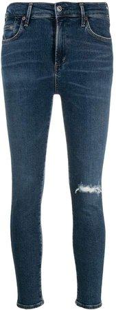 rip detail jeans