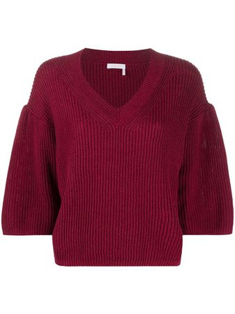 See By Chloé Flared Knitted Jumper - Farfetch