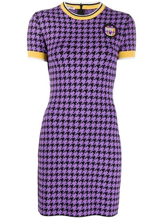 Miu Miu Knitted Houndstooth Dress - Farfetch