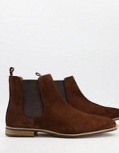 ASOS DESIGN chelsea boots in black suede with black sole | ASOS