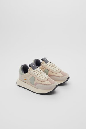 COMBINATION LEATHER SNEAKERS | ZARA United States