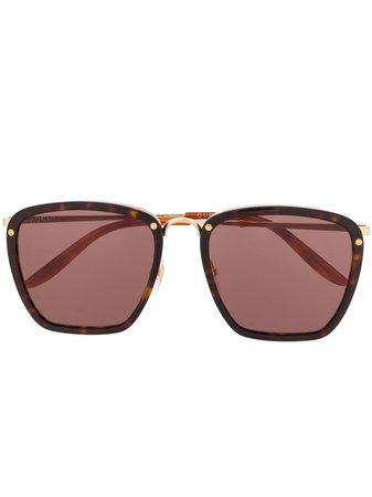 Gucci Eyewear Oversized Frame Sunglasses 610417J0770 Brown | Farfetch