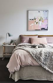 light pink bedding and grey - Google Search