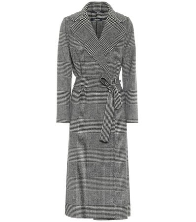 S Max Mara, Fiorito checked virgin wool coat