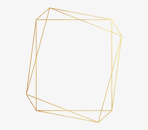 Gold Geometric Frame PNG