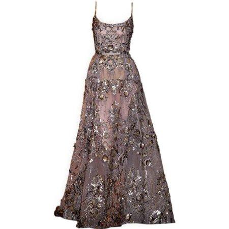 Black-Dark Purple Gown