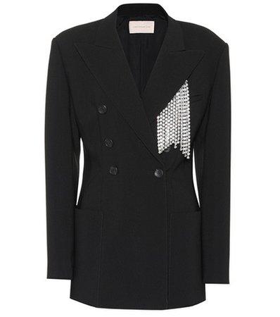 Crystal-embellished blazer