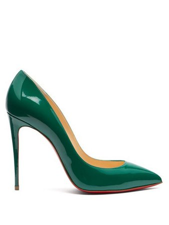 shoes, forest green, green high heels, high heels, green - Wheretoget
