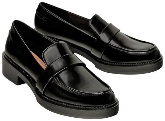 Zara Black Leather Loafers Flats Size US 6.5 Regular (M, B) - Tradesy
