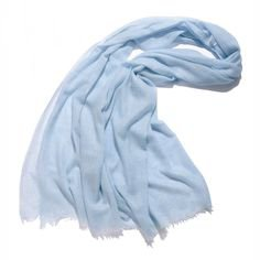 Light blue scarf cotton
