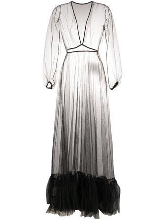 Black Alchemy sheer tulle dress - Farfetch