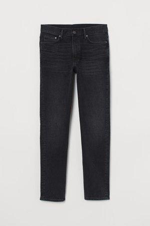 Slim Jeans - Black/washed out - Men   H&M CA