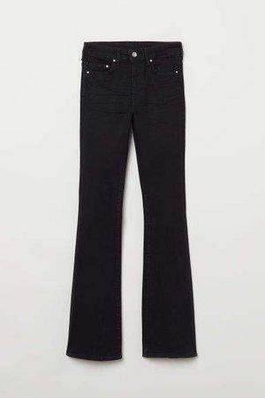 Mini Flare High Jeans - Black