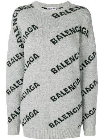 Jersey Con Logo En Jacquard Balenciaga 865€ - Compra Nueva Temporada - Envío ✈ Express, Devolución Gratuita Y Pago Seguro.
