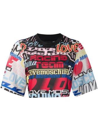Love Moschino Camisa Com Estampa Script - Farfetch