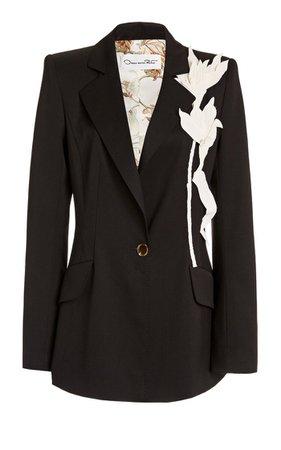 Floral-Embellished Blazer By Oscar De La Renta | Moda Operandi