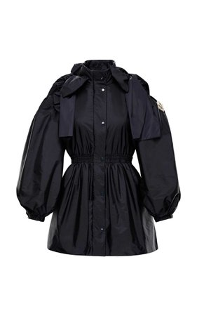 Moncler 4 Simone Rocha Bow-Detailed Shell Peplum Jacket