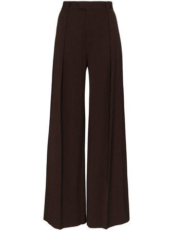 Bottega Veneta Pleated Wide-Leg Trousers Aw20   Farfetch.Com