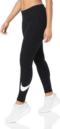 Amazon.com: Nike Womens Sportswear Club LOGO2 Legging #815997-010 (XS) Black: NIKE: Clothing