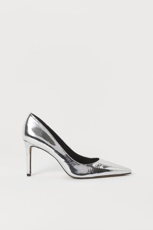 Metallic Pumps - Silver