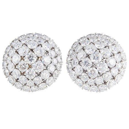 Diamond Pave Ball Stud Earrings