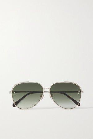Gold Aviator-style gold-tone sunglasses | Stella McCartney | NET-A-PORTER